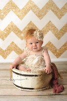Gold Glitter Chevron Photography Backdrop - Exclusive Design - Item 1984