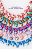 Ice Cream Parlor Kumihimo Necklace Kit - COMPONENTS ONLY