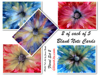 Floral 2 Note Cards - Set of 10
