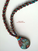 Raku Rapture - Kumihimo Pendant Necklace Kit