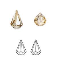 Raindrop Crystal Earring Pair