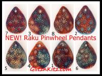 Raku Pinwheel Pendants