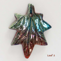 Raku Leaf Pendants
