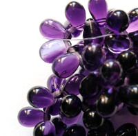 4X6mm Drops - Purple Pansy