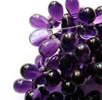 4X6mm Drops - Purple Pansy