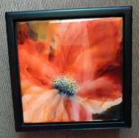 Orange Abstract Bloom Box