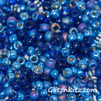 Cobalt Craze - Sz 8 Seed Bead Mix