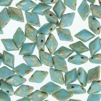 Gem Duo - Turquoise Blue Picasso