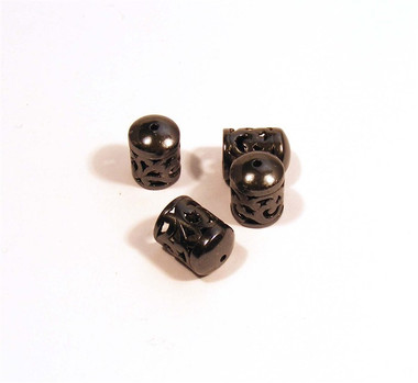 Fabulous gunmetal end caps - 11mm long with an 8mm opening