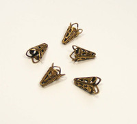 Filigree Cone/Cap - Oxidized Brass