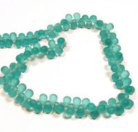 4X6mm Drops - Matte Teal