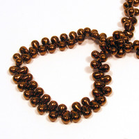 6X4mm Drops - Dark Bronze