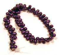 4X6mm Drops - Metallic Suede Purple