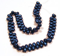 4X6mm Drops - Metallic Suede Blue
