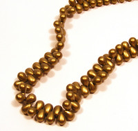4X6mm Drops - Metallic Suede Gold