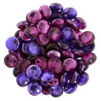 6mm Lentil - Mirrored Fuchsia Grape