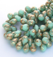 5X7mm Drops - Mint Gold