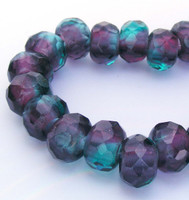 Emerald / Amethyst Roller Beads