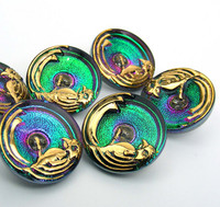 22mm Bird Green Button