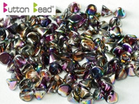 Button Beads - Crystal Magic Purple