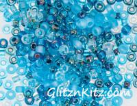Cosmic Aqua - Sz 8 Seed Bead Mix