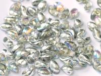 4X6 Petals - Crystal Silver Rainbow