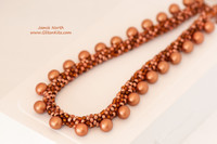 Sample - Kumihimo Matte Copper Drops Necklace