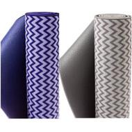 Bintiva Chevron Style Yoga Towel Mat Hybrid
