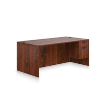 ADC Dark Cherry - Global OTG Laminate Desk with Storage Pedestal