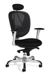 OTG11690B Ergonomic Mesh Work or Executive Chair with Headrest