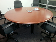 5 Used Knoll Reff Round Conference Tables