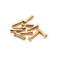 Maclan MAX CURRENT 4mm Gold Bullet Connectors   (10 pcs)