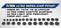 Titan 64dp Aluminum Pinion/Ultra Series (53T-56T)