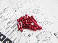 Hiro Seiko M17 Light Weight Screw Set  [Red]