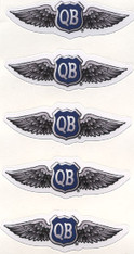 2.5-inch QB Wings Decals (five)