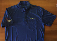 Blue Poly Polo Shirt with pocket