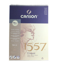 Canson 1557 Spiral Pads - Sketching (Extra White)