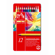 CARAN d'ACHE SUPRACOLOR® Soft Aquarelle Set - Tin of 12