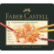 Faber Castell Polychromos Pencil Set - Tin of 24