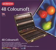 Derwent Coloursoft Pencil Set - Wooden Box of 48