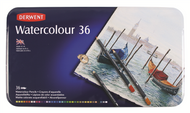Derwent Watercolour Pencil Set - Tin of 36