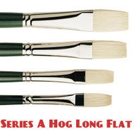 Pro Arte Series A Hog Brush - Long Flat