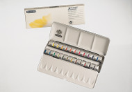 SCHMINCKE - AKADEMIE ARTISTS QUALITY WATERCOLOUR PAINTS - 24 HALF PAN