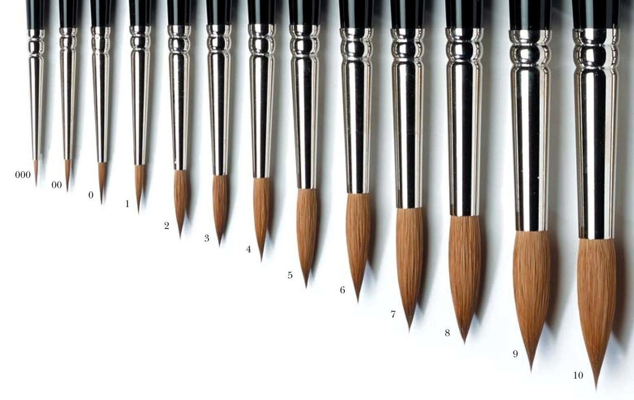 Winsor & Newton Series 7 Finest Kolinsky Sable Brushes - Artistmaterial