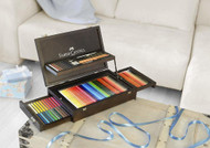 Faber Castell Art & Graphic 126 Collection with Mahogany Vaneer Wooden Case