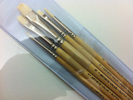 Pro Arte Artists Value Super - Hog Short Flat Brush Set