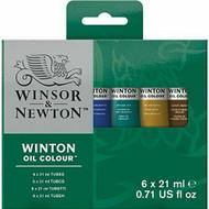 Winsor & Newton Winton Oil Colour 6 X 21ml Tube Set