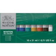 Winsor & Newton Winton Oil Colour 10 X 21ml Tube Set