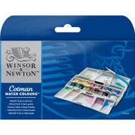 Cotman Water Colours Pocket Plus - 12 Half Pans