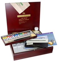 Daler Rowney Artists' Watercolour Wooden Box Large - Tube